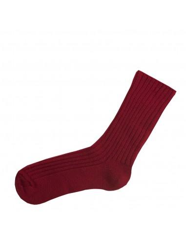 Rode merinowollen sokken