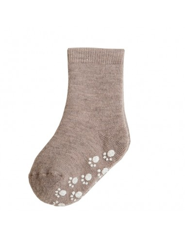 Sokken in wol in zandmelange met...