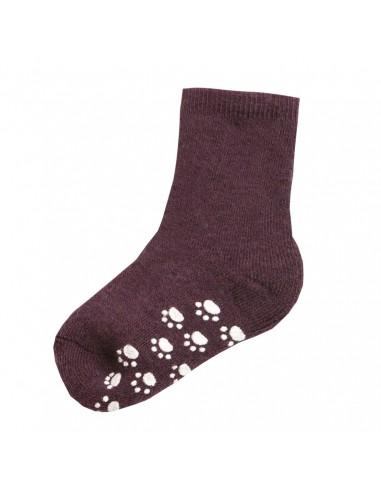 aubergine sokken om niet te vallen