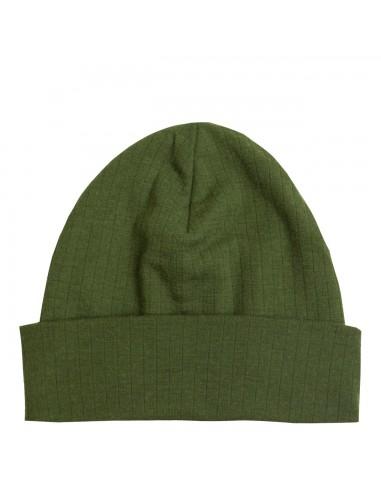 Muts in bieslook-groen (wol)