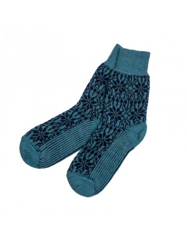 Noorse sokken in petrol/donkerblauw...
