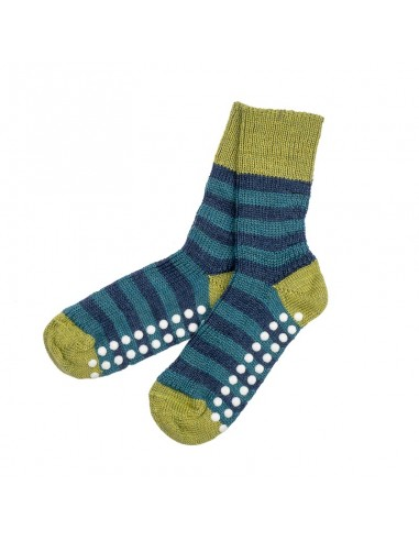 Sokken met anti-slip in groen/blauw...