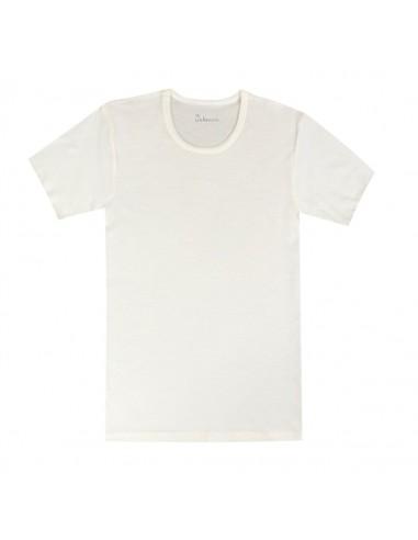 Heren T-shirt in naturel (Merinowol)