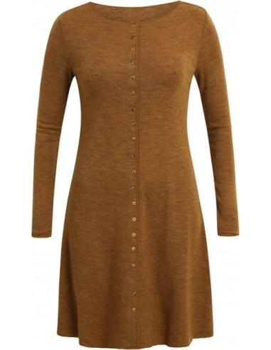 Fijn jurkje van merinowol in mosterdkleur