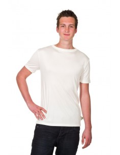 T-shirt in naturel (Coconelle zijde)