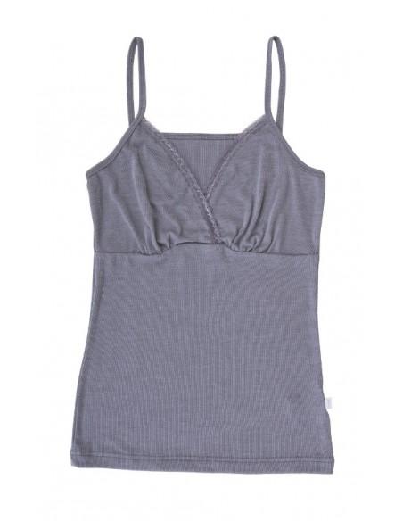 Hemdje in grijs (wol-zijde)