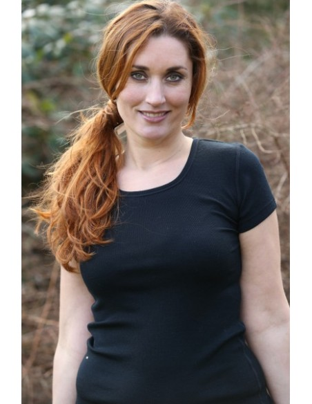 T-shirt in zwart (wol)