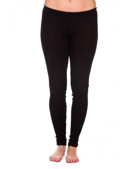 Legging in zwart (wol-zijde)