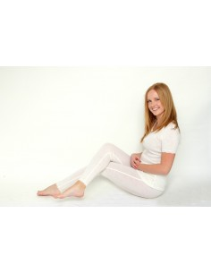 Legging in naturel met kantje (wol)