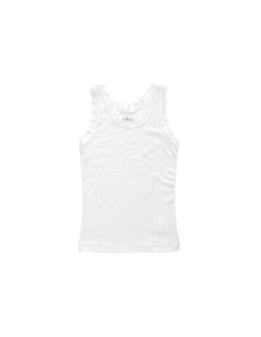 Hemdje in wit (wol-zijde)