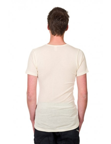 T-shirt in naturel (wol)