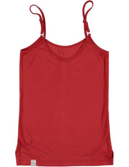 Hemd met verstelbare spaghettibandjes in granaatrood (Coconelle zijde)