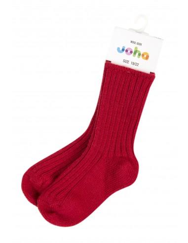 Sokken in wol in rood