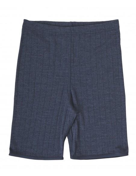 Boxershort in blauw (wol-zijde)