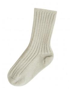 Sokken in wol in zandkleur
