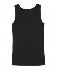 Hemd in zwart  (wol-zijde)