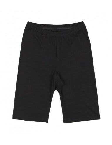 Boxershort in zwart (wol-zijde)