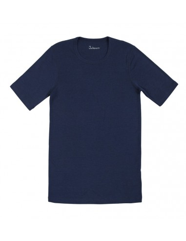 Heren T-shirt in blauw (Merinowol) S
