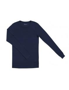 Herenshirt in blauw (Merinowol)