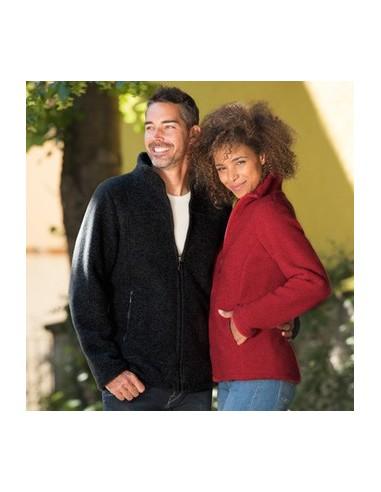Vest in helder rood (biologische fleece wol)