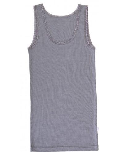 Hemd in platinagrijs (wol-zijde)