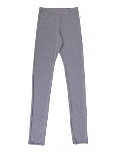 Legging in platinagrijs (wol-zijde)