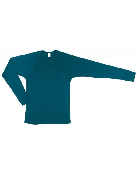 Sportshirt unisex in navy (wol-zijde)